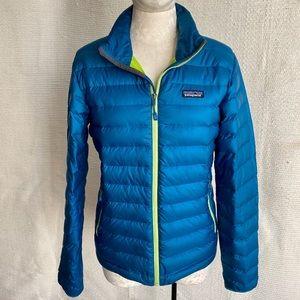 Patagonia S Men's Down Sweater Jacket Puffer Blue